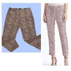 Banana Republic Avery Snakeskin Print Pants Size 4